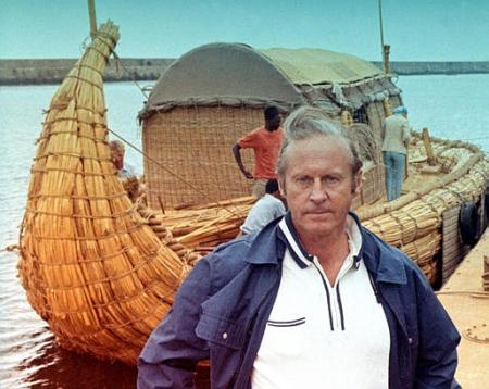 a view on the theory of thor heyerdahl in 1947 Buy a cheap copy of kon-tiki ekspedisjonen book by thor heyerdahl on april 28, 1947, heyerdahl and five other adventurers sailed from peru on a balsa log raft after.